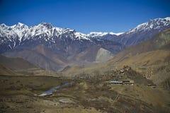 山景在喜马拉雅山 免版税图库摄影