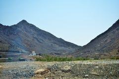 山景在阿拉伯联合酋长国假日阿拉伯国家地方  库存照片
