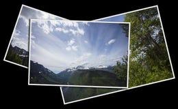 山景城在冰川国家公园 免版税图库摄影