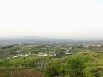 山景城在Akkar 黎巴嫩 东部中间名 免版税库存照片