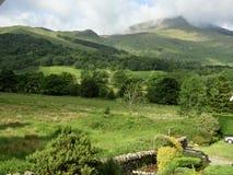 山景城在Beddgelert,北部威尔士 库存照片