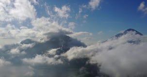 山景时间间隔与移动的云彩的 影视素材