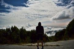 山景的上面 库存照片