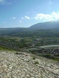 山景,培拉特,阿尔巴尼亚 免版税图库摄影