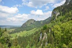 山景,新天鹅堡城堡,慕尼黑,德国 图库摄影