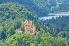 山景,新天鹅堡城堡,慕尼黑,德国 库存照片