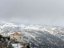 山景 黎巴嫩 东部中间名 库存照片