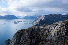 山景- Lofoten海岛,挪威 库存照片