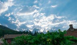 山村在保加利亚 免版税库存照片