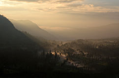 山村在Probolinggo 库存图片