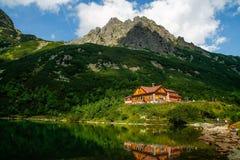 山村庄Chata pri Zelenom plese在高Tatras 库存图片
