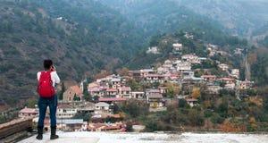 山村,塞浦路斯 库存图片