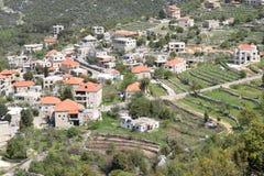 山村 黎巴嫩 免版税库存照片