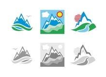 山象征集合 免版税图库摄影