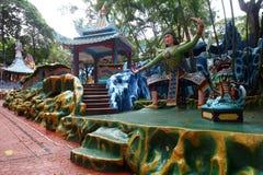 山楂同水准别墅庭院在新加坡 免版税图库摄影
