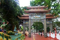 山楂同水准别墅庭院在新加坡 库存照片