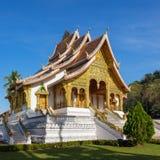 山楂Pha轰隆寺庙在琅勃拉邦 库存照片
