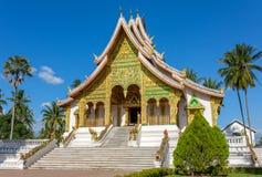 山楂Pha轰隆寺庙在琅勃拉邦 免版税图库摄影