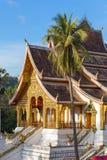 山楂Pha轰隆寺庙在琅勃拉邦 图库摄影