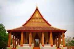 山楂Pha Kaeo寺庙在万象,老挝 免版税图库摄影