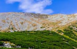 山横向在夏天 库存照片