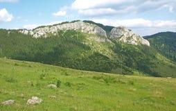 山横向在Transylvania 免版税库存照片