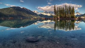 Beautiful Moraine Lake in Banff National Park, Chain. Photographed at sunrise. royalty free stock photography