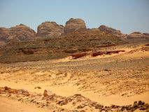 山沙漠。非洲 库存图片