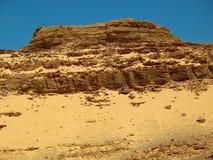 山沙漠。非洲 免版税图库摄影