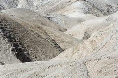 山沟在Judaean沙漠 以色列 图库摄影