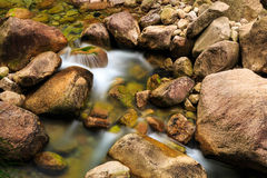 山沟小河和水池 免版税图库摄影