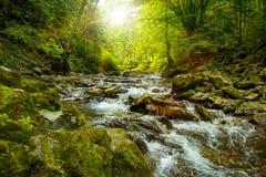 山河在阳光下 图库摄影