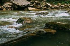 山河小河风景 库存图片