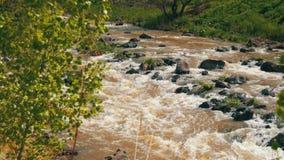 山河煮沸和在乔治亚迅速调低山坡 影视素材