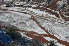 山河的床 图库摄影