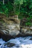 山河的风雨如磐的小河 免版税库存图片