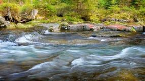 山河,流动的水,流程小河 免版税库存图片