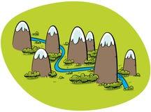 山河 向量例证