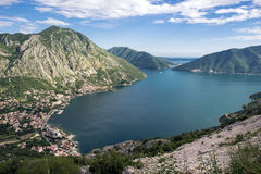 黑山海岸线 免版税库存照片