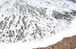 黑山海滩场面 免版税库存图片