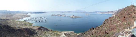 山湖惊人的射击  免版税库存图片