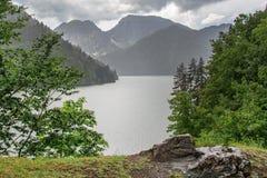 山湖Ritsa 库存照片