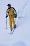山滑雪者二 库存图片