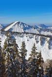 山滑雪胜地圣Gilgen奥地利 免版税库存照片