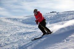 山滑雪 免版税库存图片