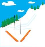 山滑雪 库存照片