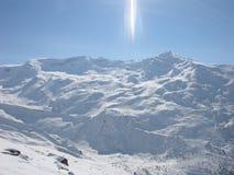 山滑雪 免版税库存照片