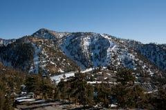 山滑雪 图库摄影