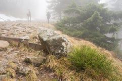 山漫步 图库摄影