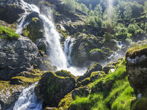 山瀑布 图库摄影